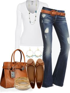 """Jeans & Tee"" by brendariley-1 on Polyvore"