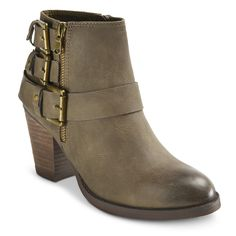 Women's Mossimo� Hartley II Buckle Ankle Boot  Cute look at affordable prices♡♡♡