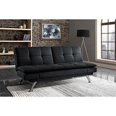 dhp premium bailey futon and mattress metropolitan futon lounger   es in cognac  camel    playroom      rh   pinterest