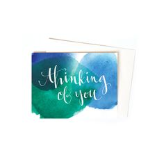New to anopensketchbook on Etsy: Thinking of You Greeting Card Set / Sympathy Cards with Watercolor and Hand Typography (17.00 USD)