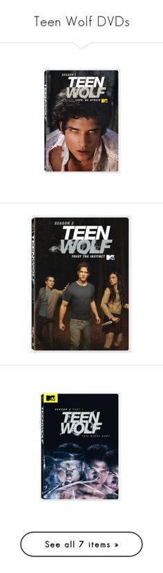 """Teen Wolf DVDs"" by redheadedbanshee ❤ liked on Polyvore featuring movies, teen wolf, extras, other, films, dvd, accessories, fillers, home and home decor"