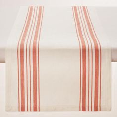 Perfect for everyday use, our classic cotton table runner features orange French-style stripes set against a natural background. Pair it with our coordinating napkins and placemats for a put-together look at a can't-miss price.