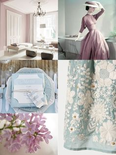 color me monday: dusty mauve & duck egg blue via www.afinelineblog,com