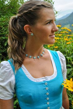 Turquoise Necklace, Daisy, Drop Earrings, Bergen, Outfits, Jewelry, Women, Fashion, Medieval Gown