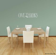 Give Thanks Wall Art Decal - Wallums.com