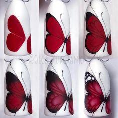 Nail art ideas tutorial ongles 58 Ideas for 2019 Butterfly Nail Designs, Butterfly Nail Art, New Nail Designs, Flower Nail Art, Trendy Nail Art, Cool Nail Art, Nail Art Modele, Nail Techniques, Nail Swag