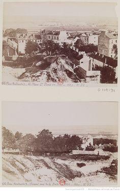 La Plaine Saint-Denis en 1855 (MFILM G-119191) ; Versant nord de la Butte en 1855 (MFILM G-119192);