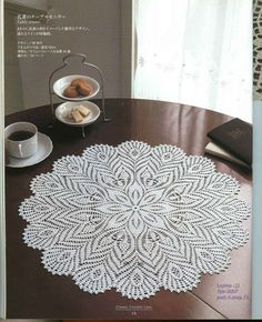 Beautiful doily with diagram