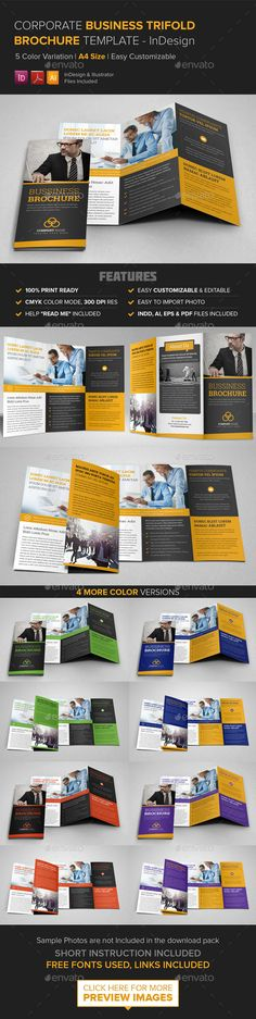Corporate Business Trifold Brochure - InDesign