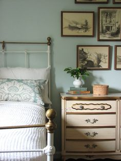 Wall paint: Behr Celtic Blue.. This looks cozy.  Maybe bedroom....