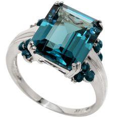 10K白 R1118 - 倫敦藍 / 藍寳 - 方10*12 (1) + 元2mm (12) - 2.00g - 4 PCS - 30 - $390.00