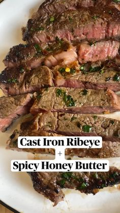 I Love Food, Good Food, Yummy Food, Tasty, Spicy Honey, Honey Butter, Steak Recipes, Cooking Recipes, Healthy Recipes