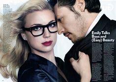 Emily VanCamp & Nick Wechsler in Glamour.