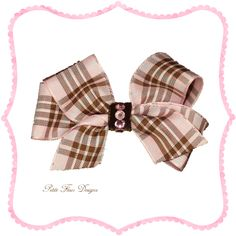 Pink Burberry Baby Hair Bow
