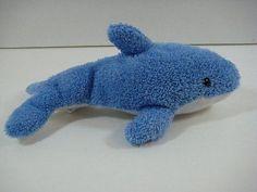 "9"" Blue Sea Life DOLPHIN Soft Terrycloth GreenBriar Plush Stuffed Toy B170"