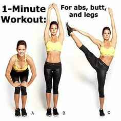 Brooke Burke-Charvet's 1-Minute  for your abs, legs, and butt!  