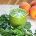 st. patrick's day smoothie (peach & hidden spinach!)