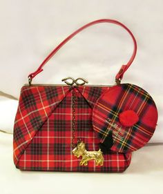 Vintage Childs Tartan Purse with tam Coin Purse & Scottie Dog Vintage Purses, Vintage Bags, Vintage Handbags, Vintage Ideas, Tartan Mode, Tartan Plaid, Childrens Purses, Dog Purse, Moda Retro
