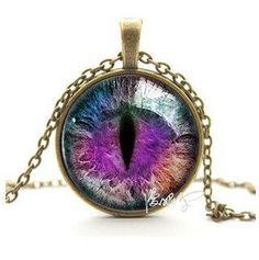 Glass Cat Eye Necklace