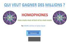 millionnaire homophones grammaticaux – Pontt