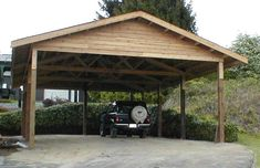 wooden carports | 24 x 36 cedar carport attached carport outside table covering