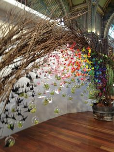 1000 cranes = a wish granted or a blessed new beginning.