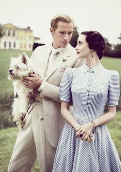 James D'Arcy and Andrea Riseborough as the Duke and Duchess of Windsor,  wearing costumes from the film W.E. by Arianne Phillips