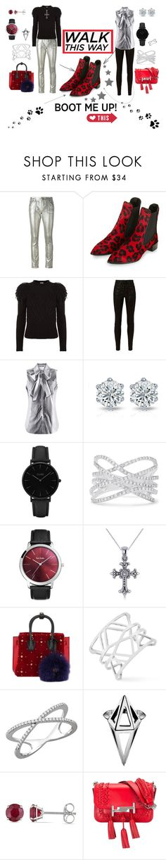 """Boots in style"" by belen-cool-look ❤ liked on Polyvore featuring Roberto Cavalli, Topshop, Temperley London, rag & bone, Moschino, CLUSE, Effy Jewelry, Paul Smith, Allurez and MCM"