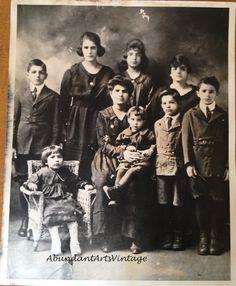 Family Portraits Old Photos Black and White by AbundantArtsVintage