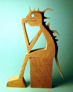 """sculpture bois chantourné """"punkinquiet"""" de la boutique 2virgule5d sur Etsy"""