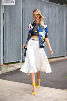 Look we love: crop tops for summer. See how these Australian street style stars styled their crop tops here.