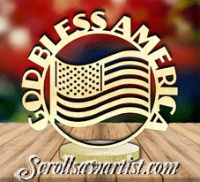Scroll Saw Patterns :: Plaques :: Freestanding word plaques :: Freestanding word plaque - God bless America Letter Ornaments, Globe Ornament, Faith In Love, Scroll Saw Patterns, God Bless America, Snow Globes, Blessed, Lettering, Words