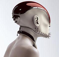 Un Casque futuriste by Hedi Xandt|