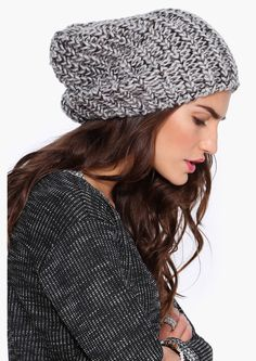 Loose knit beanie