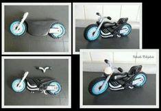 Motorbike tutorial and LOTS Modeling Chocolate Figures, Motorcycle Cake, Motorcycle Birthday, Bike Cakes, Cake Models, Foundant, Sport Cakes, Fondant Tutorial, Fondant Tips