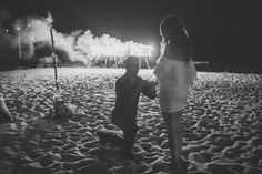Marriage proposal with fireworks on Koh Samui by #samuiweddingsandevents  Photo by Cherry May Ward