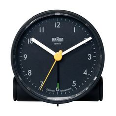 Special Offers Available Click Image Above: Braun Travel Black Alarm Clock - White Hands - Black Dial - Contemporary Clocks, Travel Alarm Clock, Alarm Clocks, Tabletop Clocks, Turn The Lights Off, Shops, Dieter Rams, Small Appliances, Black