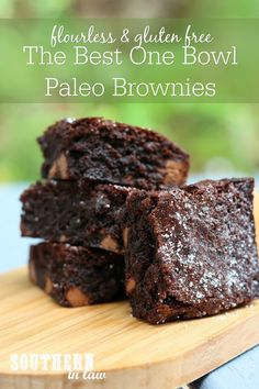 The Best Ever Brownies. The BEST Ever Brownies. It's a big call but trust me - these brownies are seriously good. and secretly paleo and gluten free. Low Sugar Recipes, Wheat Free Recipes, No Sugar Foods, Sugar Free Desserts, High Protein Recipes, Paleo Recipes, Sugar Free Brownies, Paleo Brownies, Sugar Free Baking
