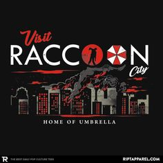 Resident Evil T-Shirt by Arace. Show everyone that you are a fan of Resident Evil with this t-shirt. Home of Umbrella. Resident Evil Video Game, Really Cool Wallpapers, Evil Games, Umbrella Corporation, Apocalypse Art, Evil Art, New Nightmare, Video X, Game Quotes