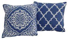 Poszewka koniczyna marokańska i hires-kolor niebieski