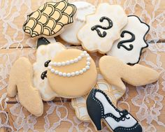 Gatsby Themed Sugar Cookies by SugarbeeGoodies on Etsy, $34.00