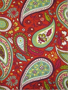 "Art Paisley Poppy Crypton Fabric.  Crypton Fabric for durable upholstery, window treatments, dog beds, top of the bed or any home décor fabric project. Resists stains and odors. Easy to clean. Long lasting durability. Transitional paisley print. 100,000 double rubs. 100% cotton. Repeat; V 13.5"" - H 13.5"". 55"" wide."