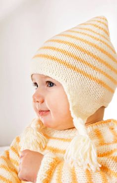 Set of cap, mittens and socks - free knitting instructions - stricken - How To Start Knitting, Knitting For Kids, Baby Knitting Patterns, Crochet For Kids, Knitting Socks, Free Knitting, Cowl Patterns, Knitted Hats Kids, Knitted Bags