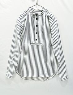 FRANK LEDER Striped Cotton Stand Collar shirt - 横浜 セレクトショップ arable soil