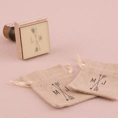 Create your own diy wedding favors or stationery with our personalized Arrow Monogram Wedding Stamp!