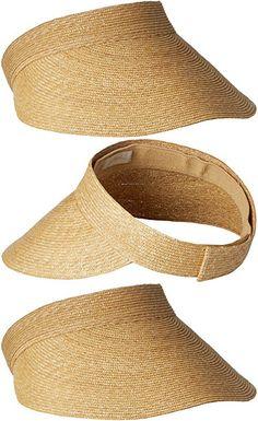 f9df1d384ac Gottex Women s Boracay Fine Milan Straw Packable Visor Rated