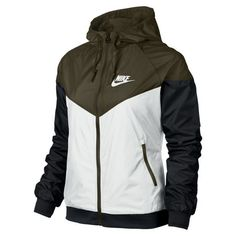 Nike WindRunner Women s Jacket Hoodie Windbreaker White Dark Loden  545909-121. Pantalones 13698cd3168