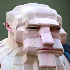 Artist Lee Griggs uses Arnold rendering software to create wonderfully bizarre digital portraits that he calls Deformations. Digital Portrait, Digital Art, 3d Face, Grid Design, 3d Artist, Beauty Art, Installation Art, Caricature, Art Boards