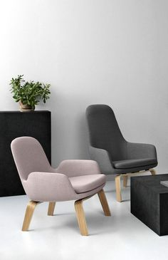 Normann Copenhagen Collection Wood Lounge Chairs: