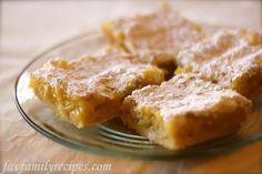 Lemon Bars from favfamilyrecipes.com #lemon #dessert #recipes